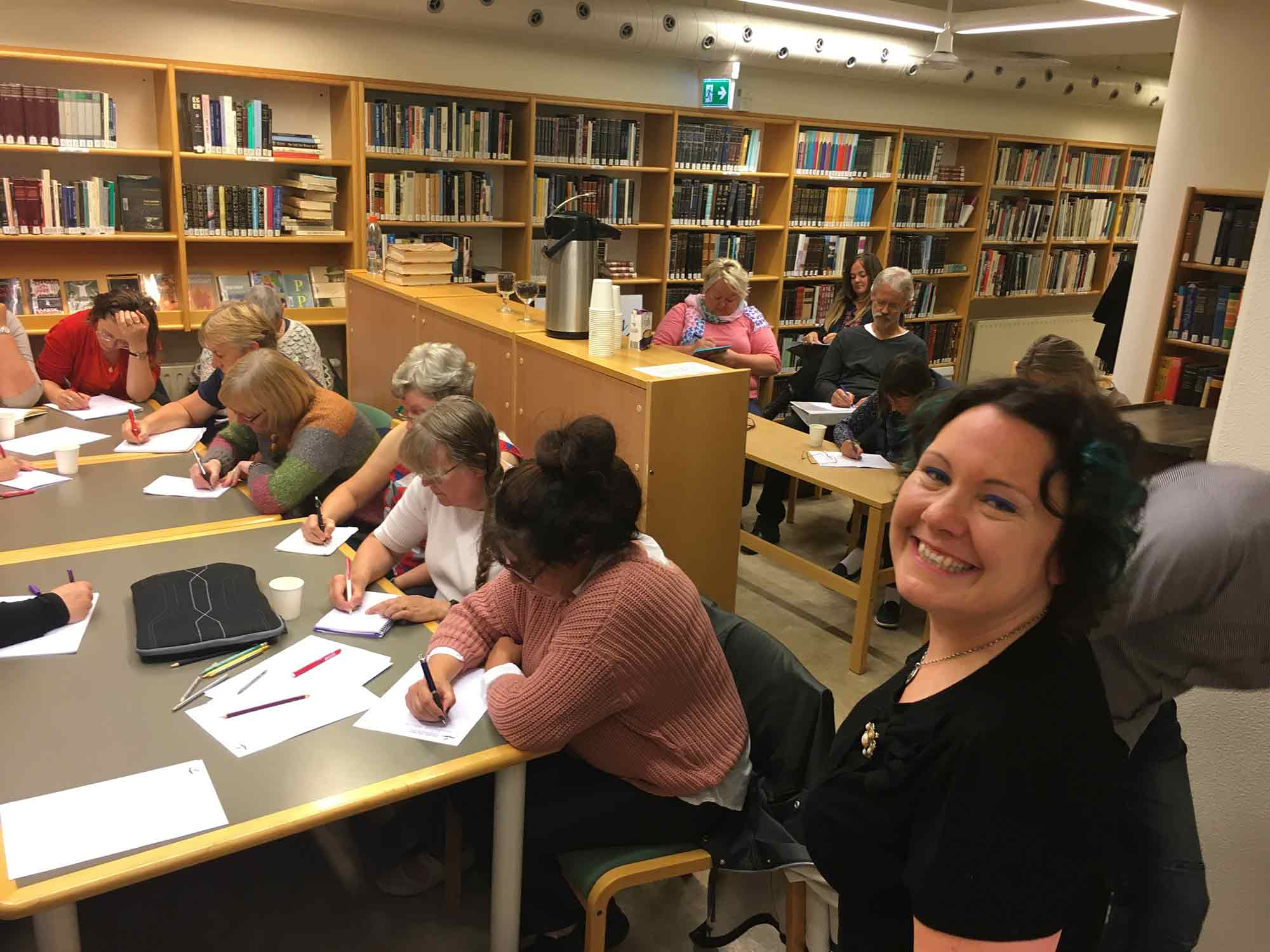 Creative writing with Elizabeth Rose Murray at local library
