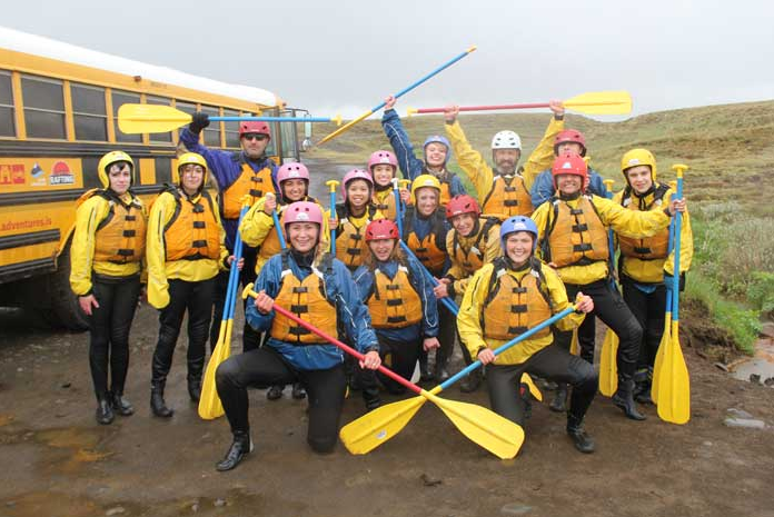 Rafting-school group