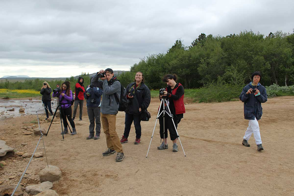 At Geysir - student group